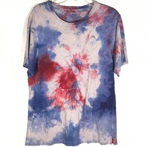 TOMMY BAHAMA Tie Dyed Tee Shirt Medium BLue Red